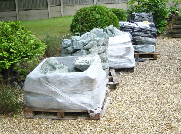The Garden Stones Just After Delivery There Seemed To Be An Awful Lot Of Stone